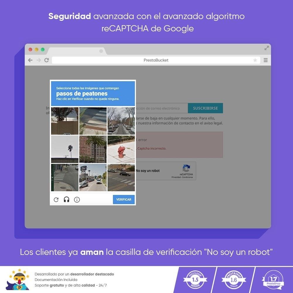 module - Seguridad y Accesos - CAPTCHA Google reCAPTCHA PRO + anti Cuentas Falsas - 7