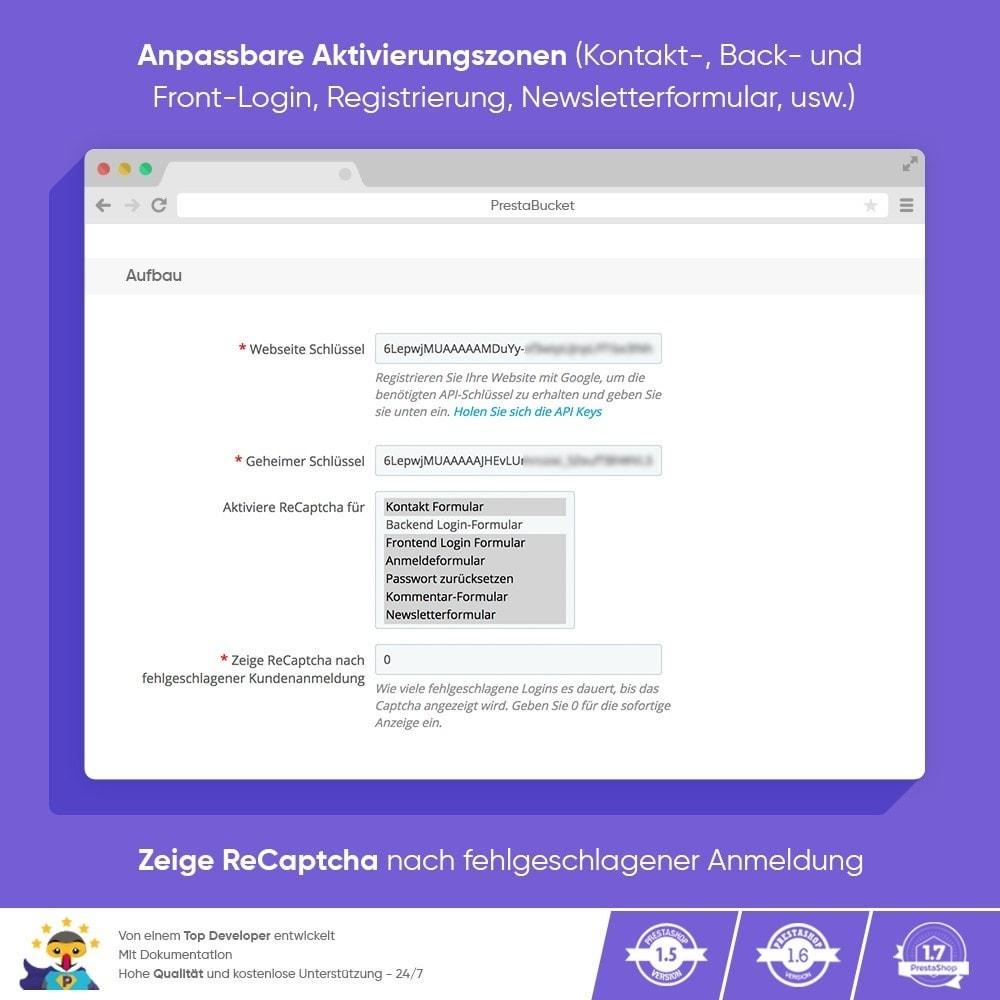 module - Sicherheit & Brechtigungen - CAPTCHA Google reCAPTCHA PROFI + Anti-Fälschungen - 3