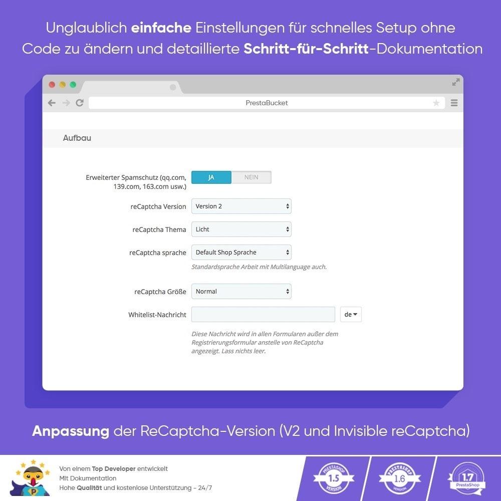 module - Sicherheit & Brechtigungen - CAPTCHA Google reCAPTCHA PROFI + Anti-Fälschungen - 4