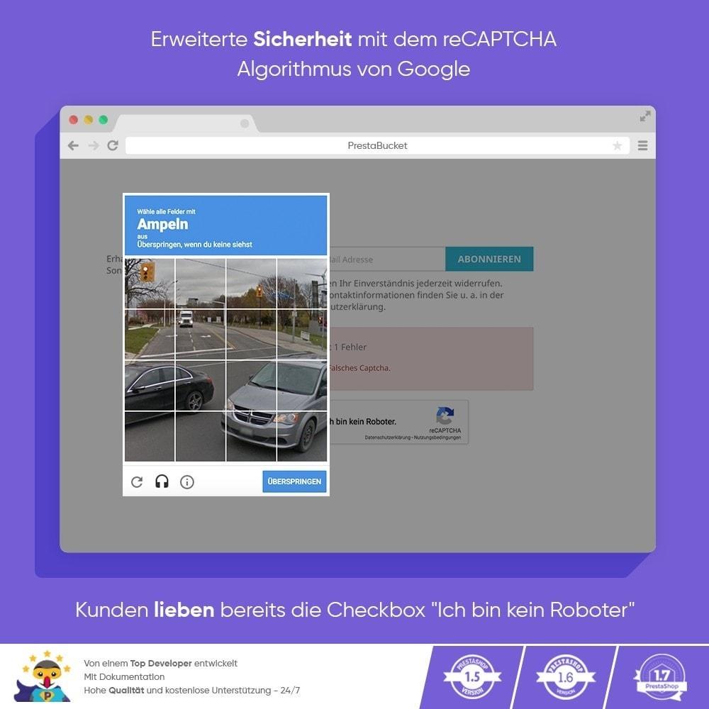 module - Sicherheit & Brechtigungen - CAPTCHA Google reCAPTCHA PROFI + Anti-Fälschungen - 7