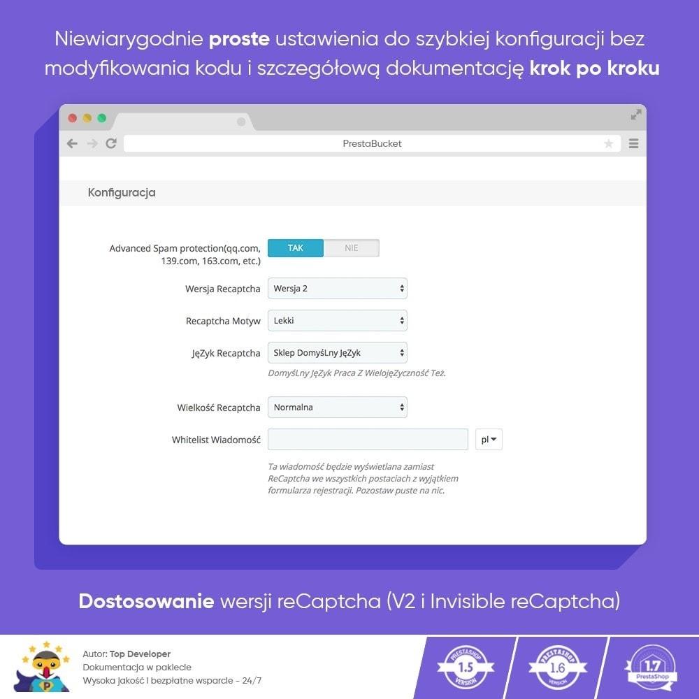 module - Bezpieczeństwa & Dostępu - CAPTCHA Google reCAPTCHA PRO + anty Fałszywe Konta - 4