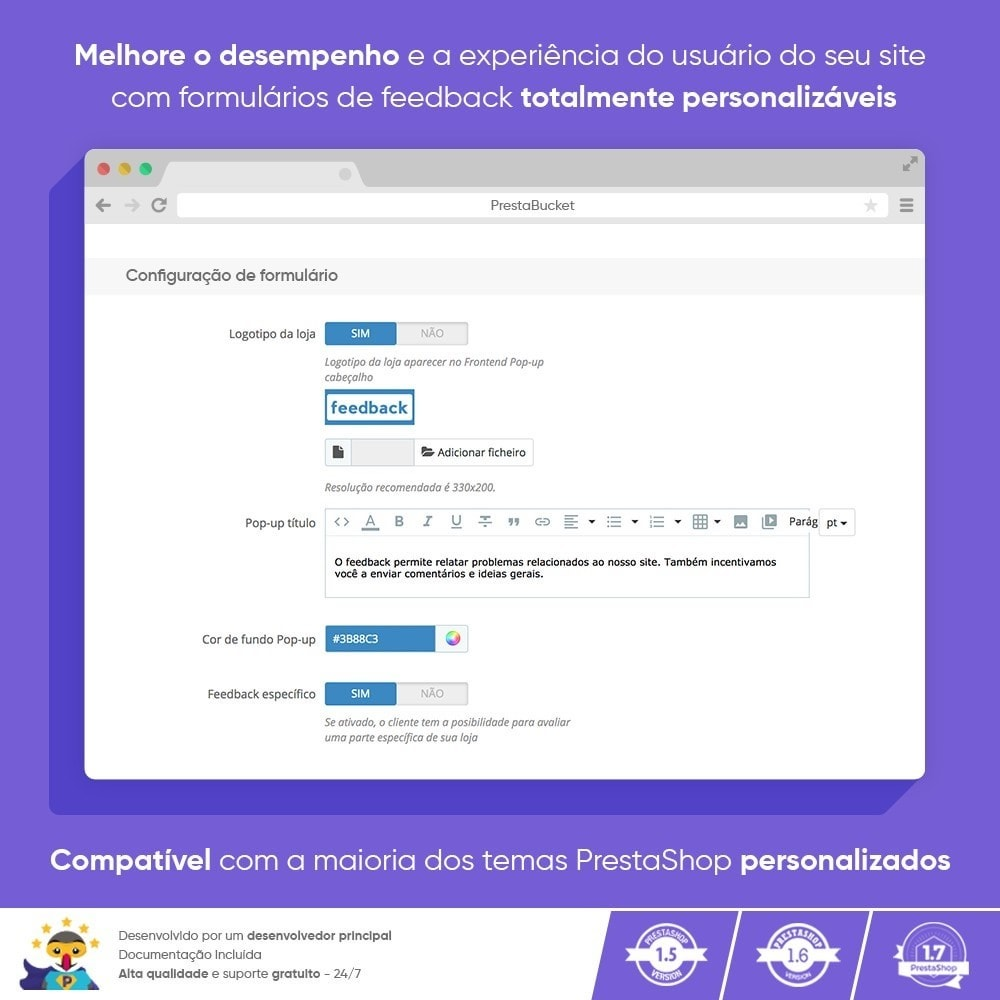 module - Opiniões de clientes - Cliente Avançado FEEDBACK Coletar Informações Vitais - 4