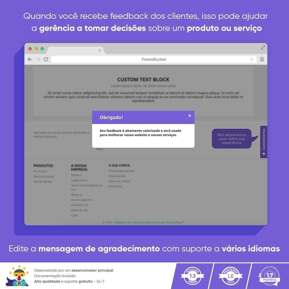 module - Opiniões de clientes - Cliente Avançado FEEDBACK Coletar Informações Vitais - 10