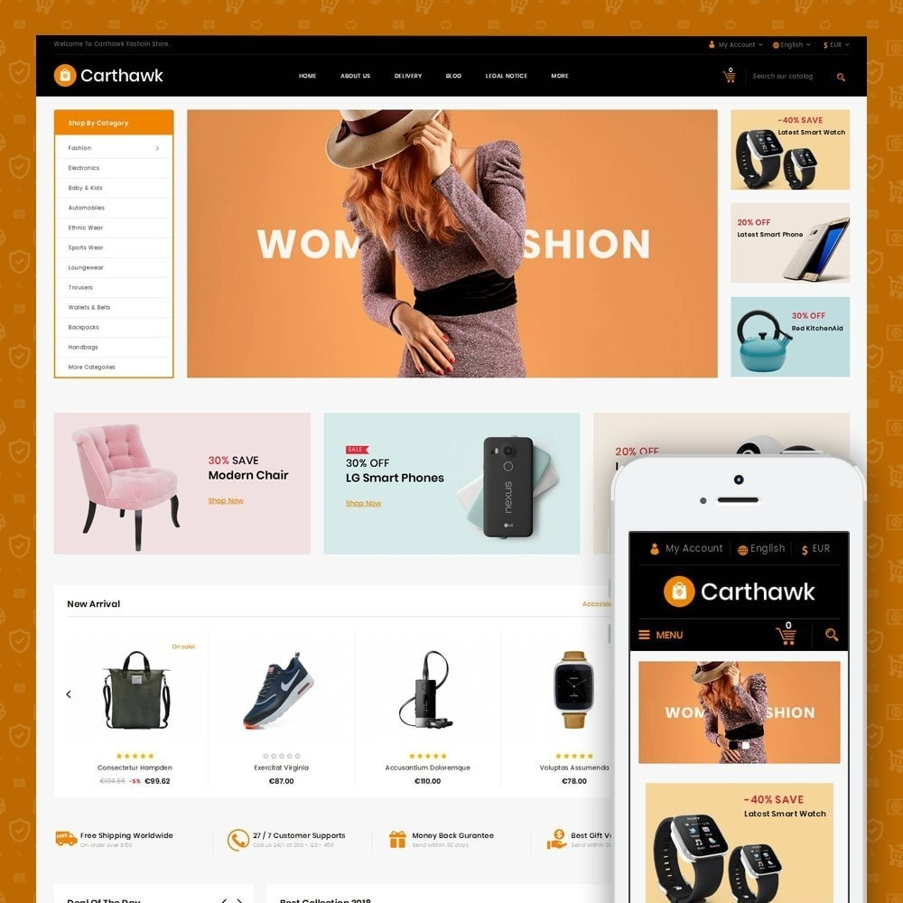 theme - Электроника и компьютеры - Carthawk - Multi purpose store - 1