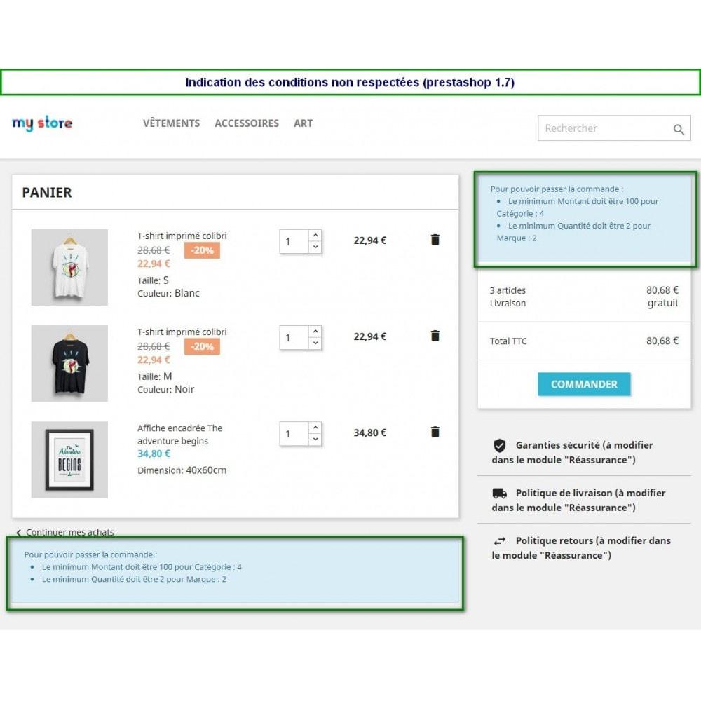 module - Pегистрации и оформления заказа - Multiple Order Limits : By Category, Supplier or Brand - 1