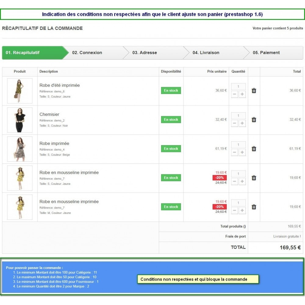 module - Registration & Ordering Process - Multiple Order Limits : By Category, Supplier or Brand - 7