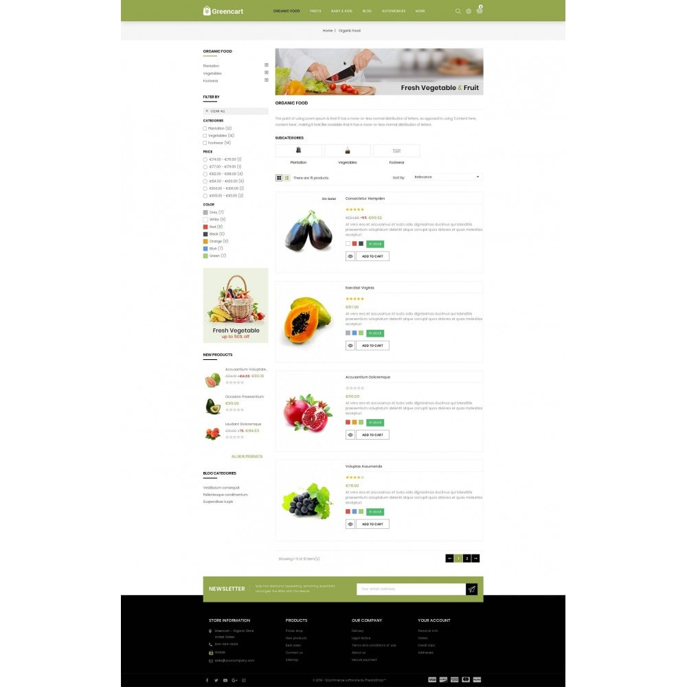 theme - Home & Garden - Green Cart - Organic Store - 4