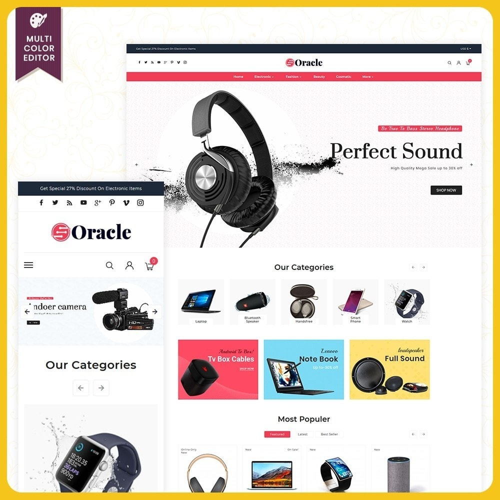 theme - Eletrônicos & High Tech - Elettr Oracle - Electronics Store - 1