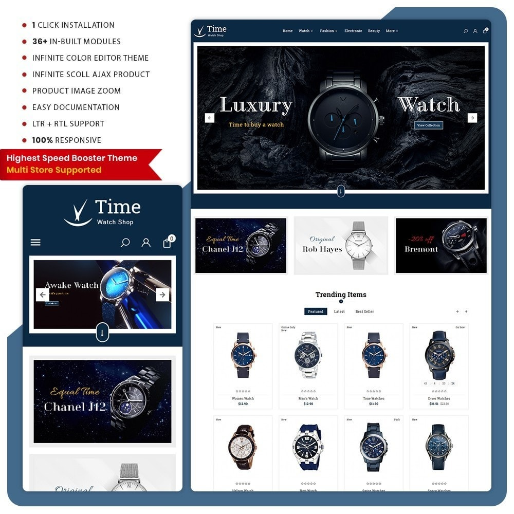 theme - Fashion & Shoes - Time Regarder - Watch Big Mall - 1