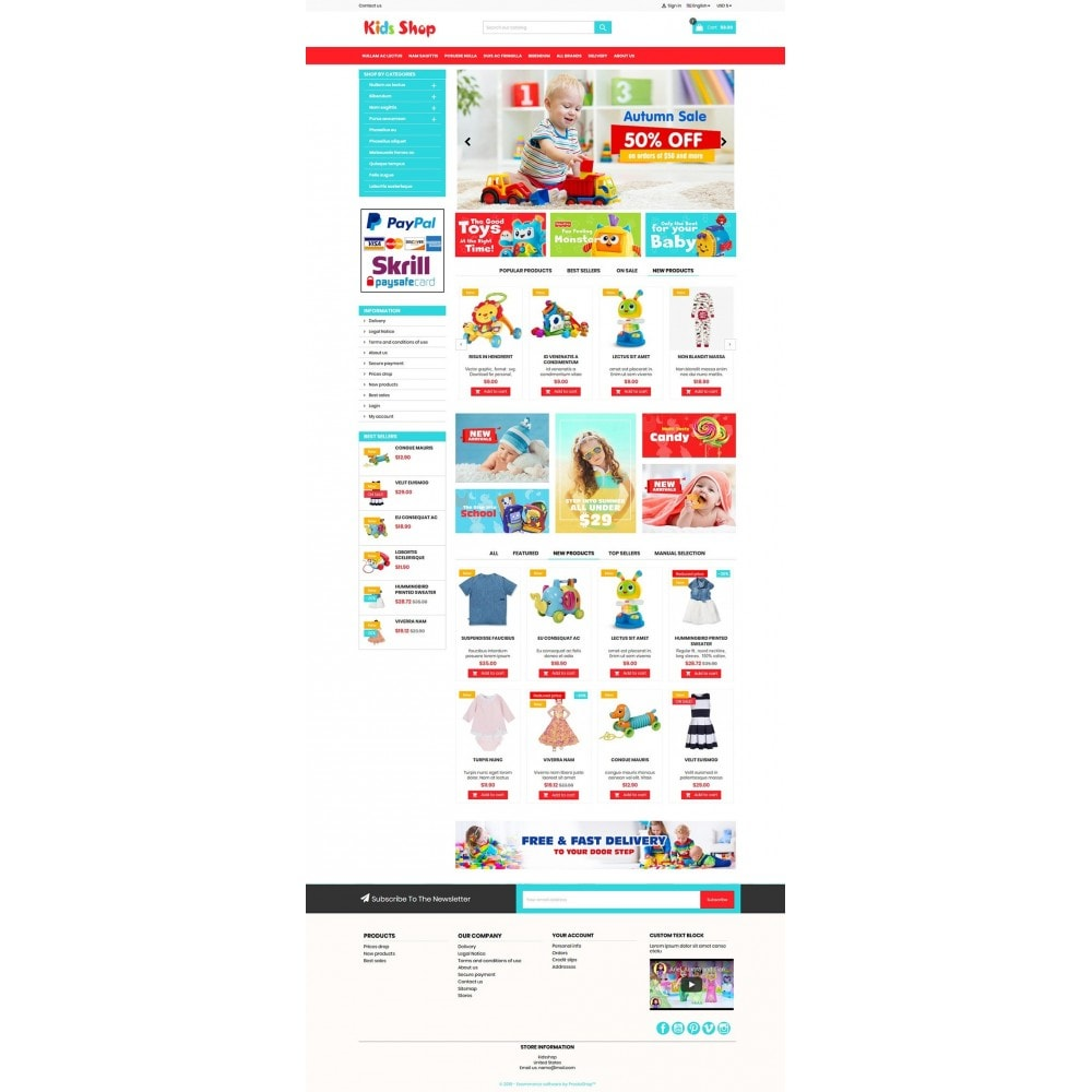 theme - Kinderen & Speelgoed - New Kids shop, Toy, play, cloths Multicolor store - 2