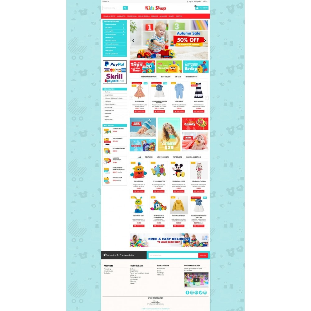 theme - Kinderen & Speelgoed - New Kids shop, Toy, play, cloths Multicolor store - 7