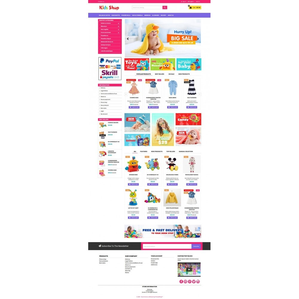 theme - Kinderen & Speelgoed - New Kids shop, Toy, play, cloths Multicolor store - 10