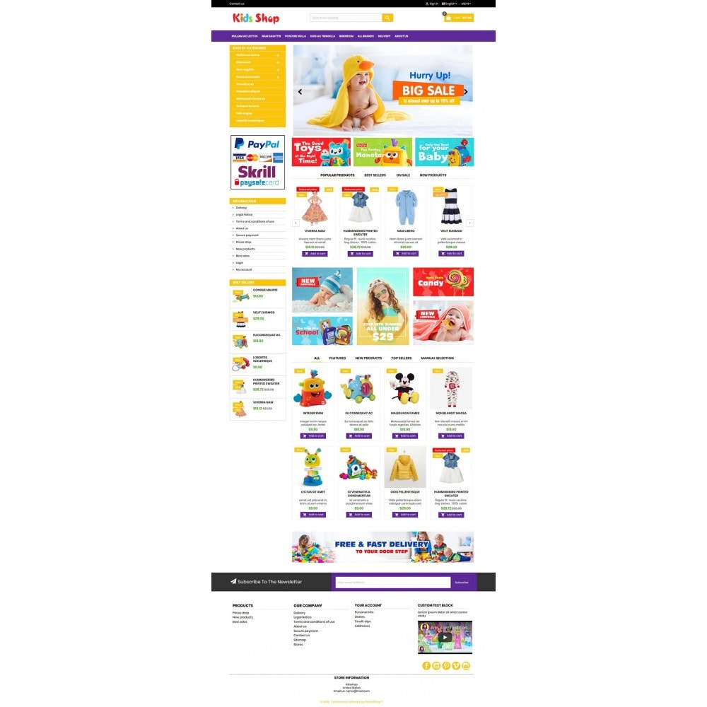 theme - Kinderen & Speelgoed - New Kids shop, Toy, play, cloths Multicolor store - 12
