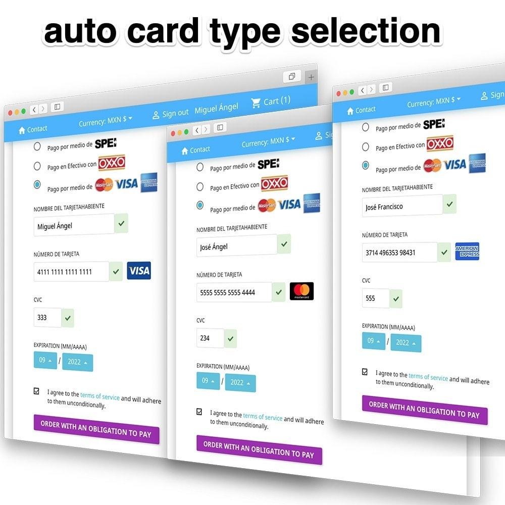 module - Other Payment Methods - Conekta payments: OXXO, SPEI, Credit and Debit cards - 5