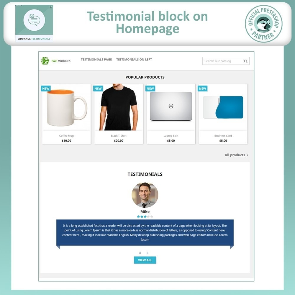module - Comentarios de clientes - Advance Testimonials - Customer Reviews with Pictures - 2