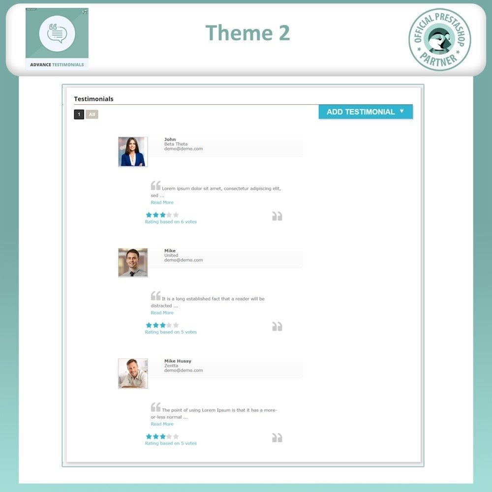 module - Recensioni clienti - Advance Testimonials - Customer Reviews with Pictures - 4