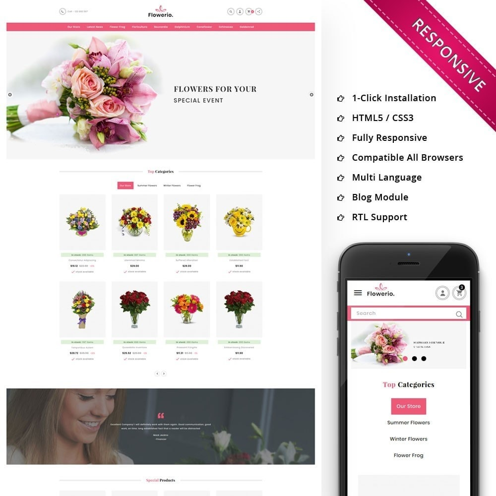 theme - Cadeaus, Bloemen & Gelegenheden - Flowerio - The Flower Shop - 1