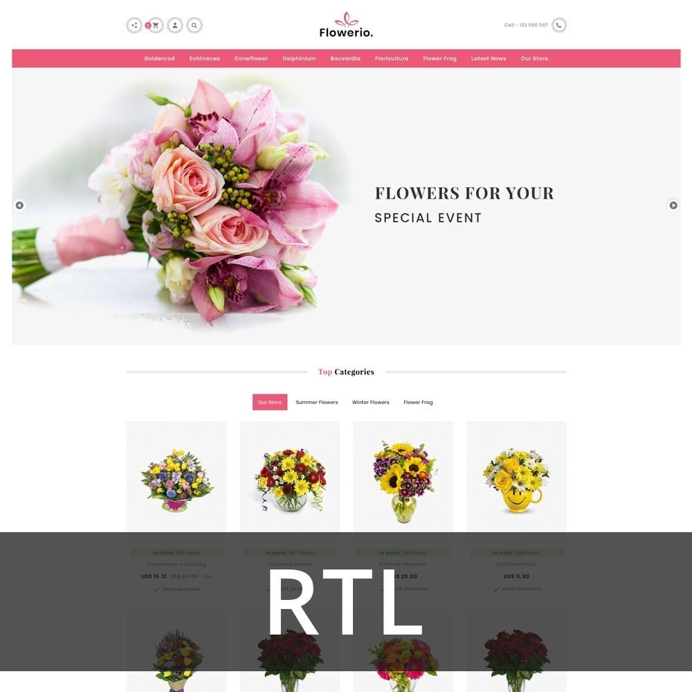 theme - Cadeaus, Bloemen & Gelegenheden - Flowerio - The Flower Shop - 3