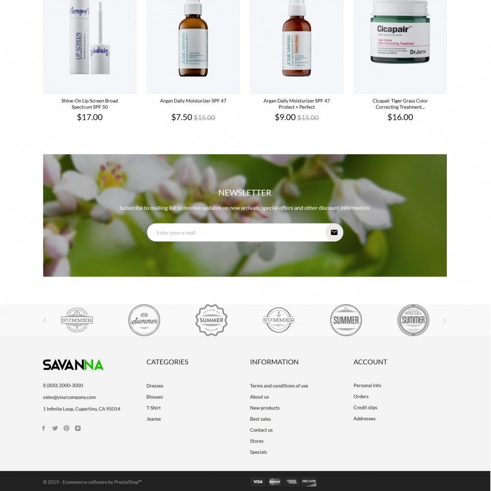theme - Health & Beauty - Savanna Cosmetics - 4