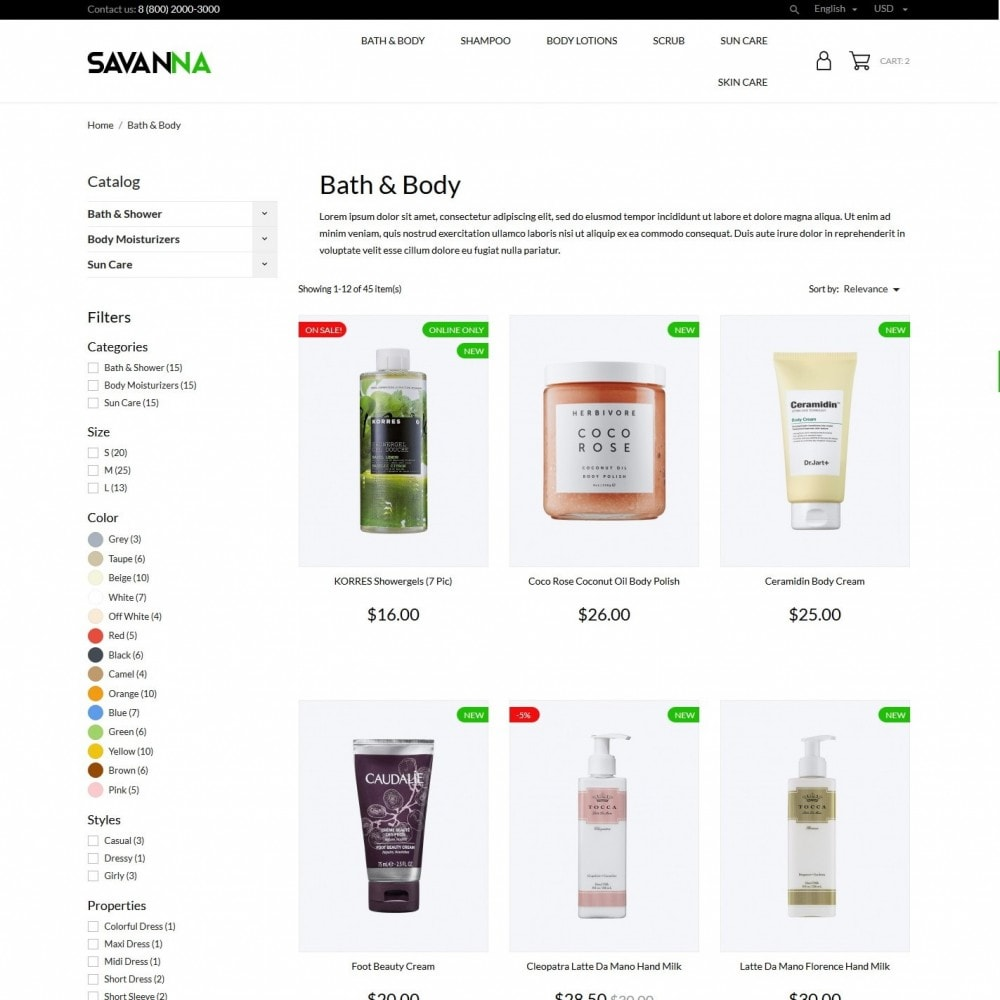theme - Saúde & Beleza - Savanna Cosmetics - 5