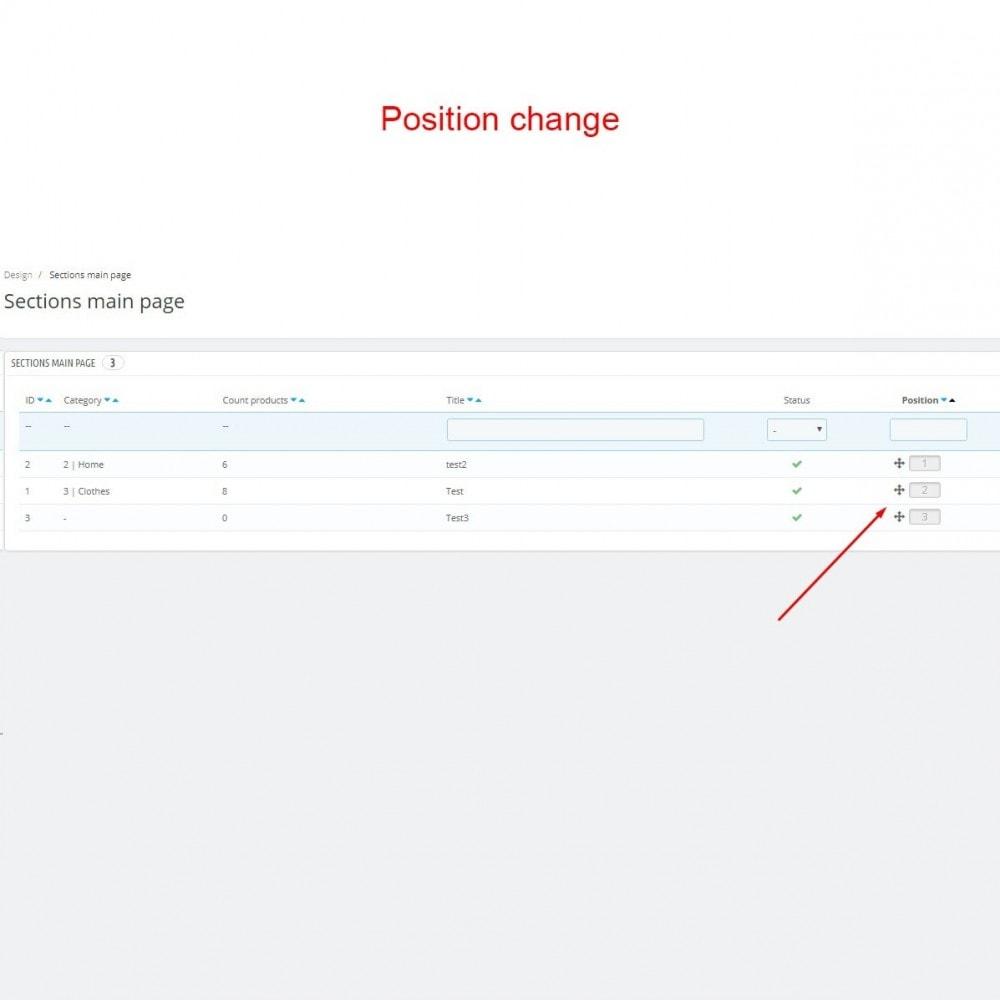 module - Блоки, вкладки и Баннеры - Разделы категорий на главной странице - 5