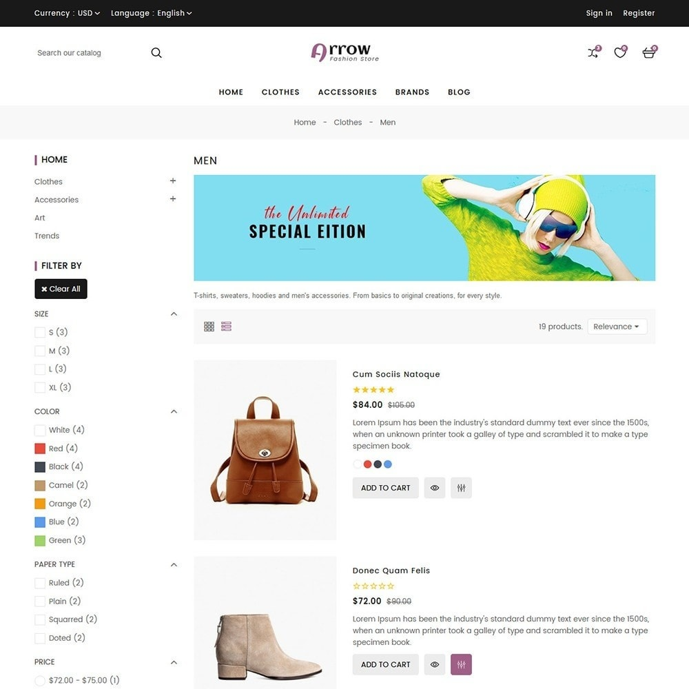 theme - Mode & Chaussures - Arrow Fashion Store - 6