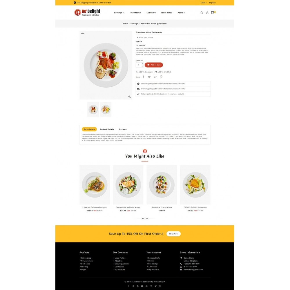 theme - Food & Restaurant - De Delight - Restaurant & Dishes - 5