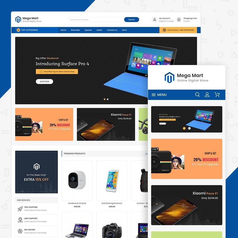theme - Elektronika & High Tech - Mega Mart Digital Electronics Store - 1