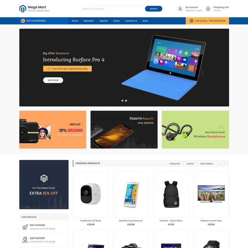 theme - Elektronika & High Tech - Mega Mart Digital Electronics Store - 2