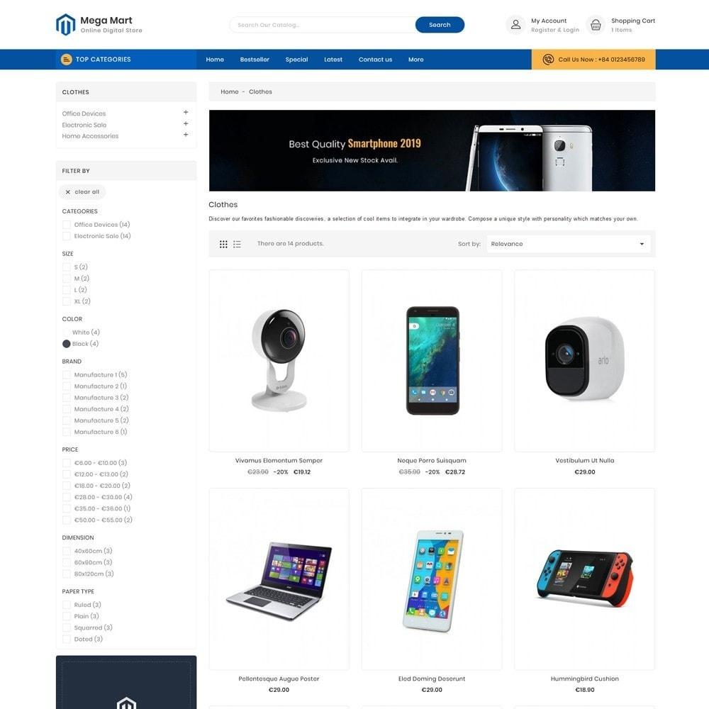 theme - Elektronika & High Tech - Mega Mart Digital Electronics Store - 3