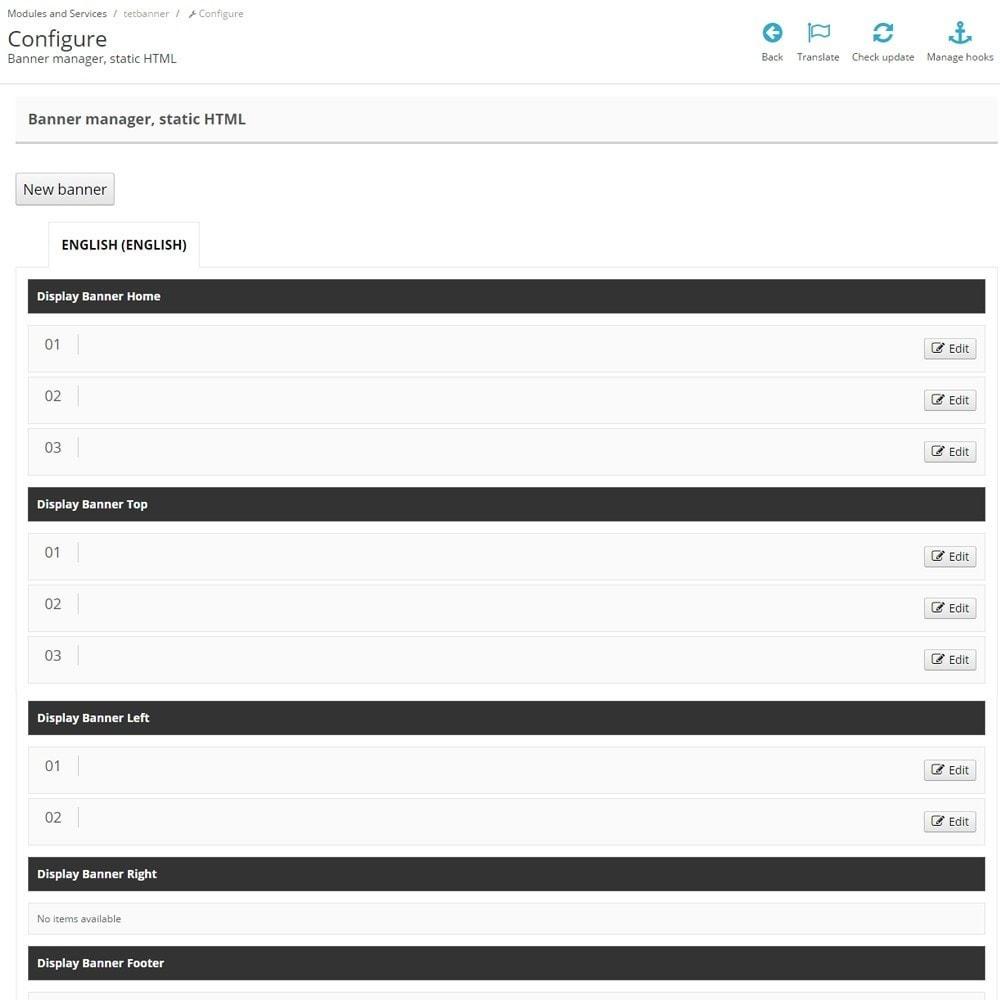 module - Блоки, вкладки и Баннеры - Управление баннерами, статический HTML, контент и текст - 5