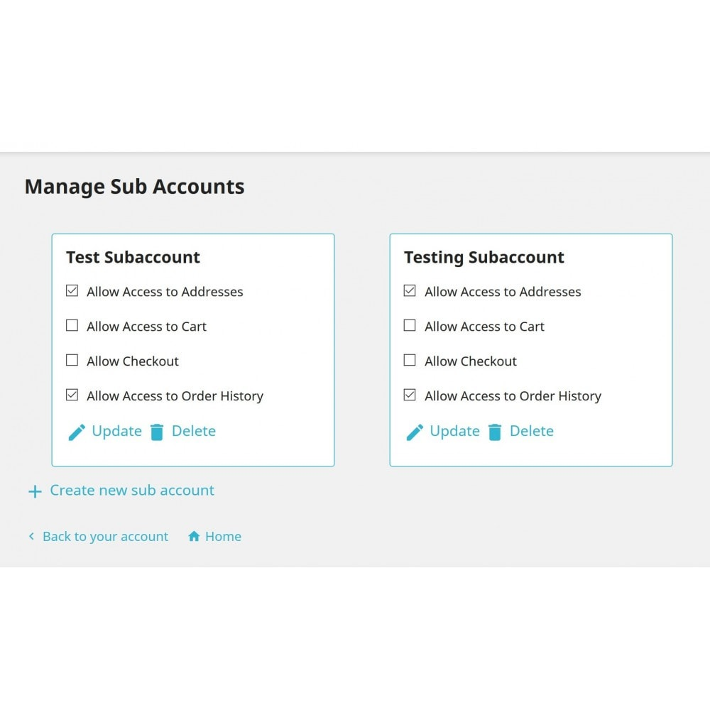 module - Klantenservice - Multiple Customer Account - 1