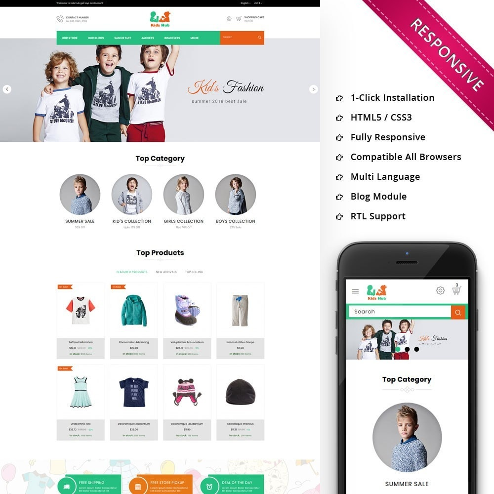 theme - Moda & Calzature - Kids Hub - The Children Fashion Store - 2
