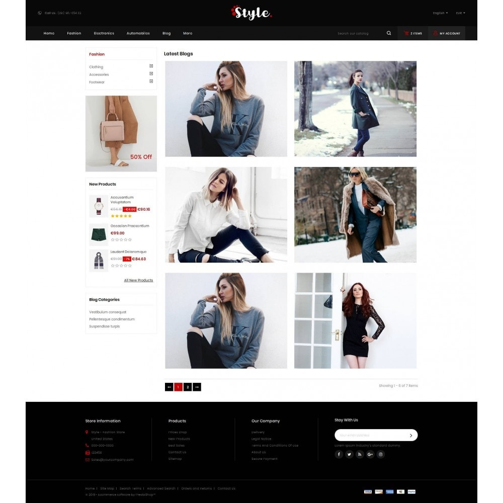 theme - Mode & Schoenen - Style Accessories Store - 9