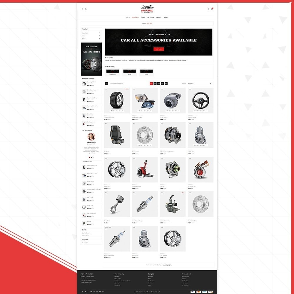 theme - Automotive & Cars - MotoMac Auto Part Store - 4