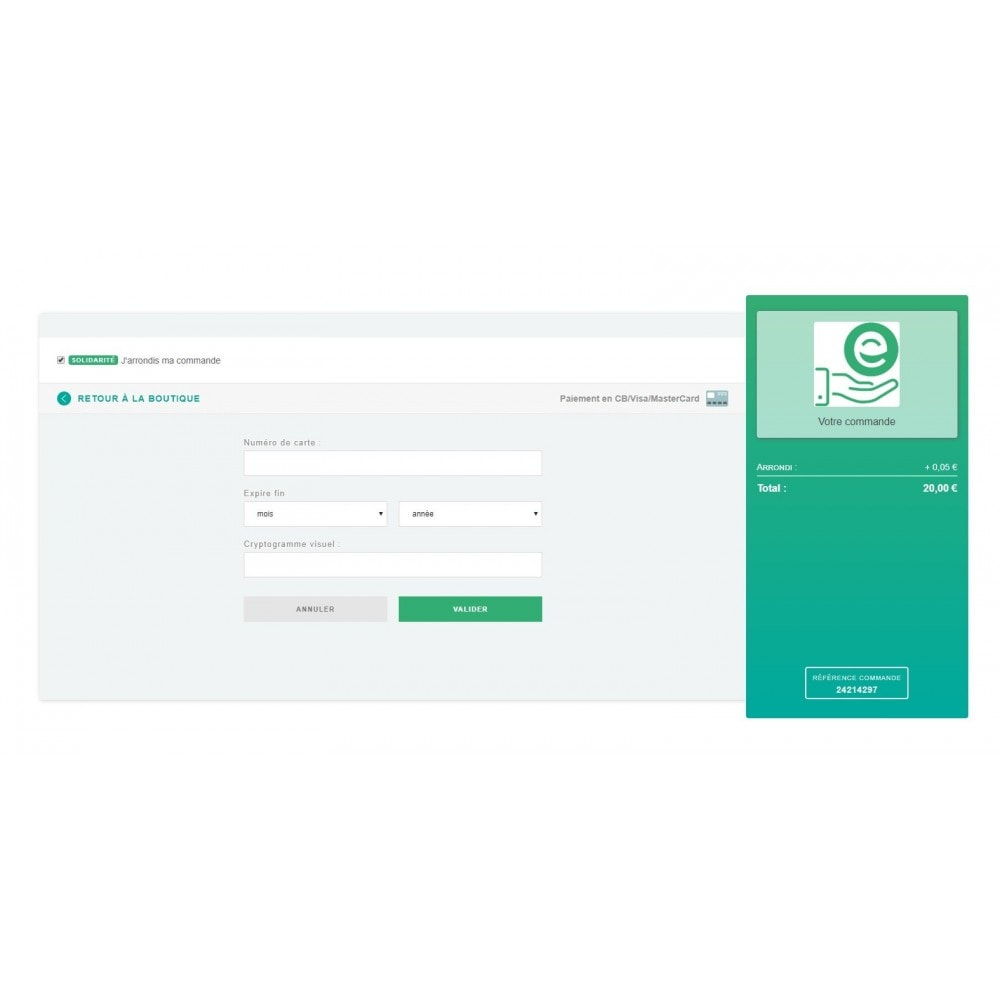 module - Paiement par Carte ou Wallet - PayGreen - La Solution De Paiement Green - 2
