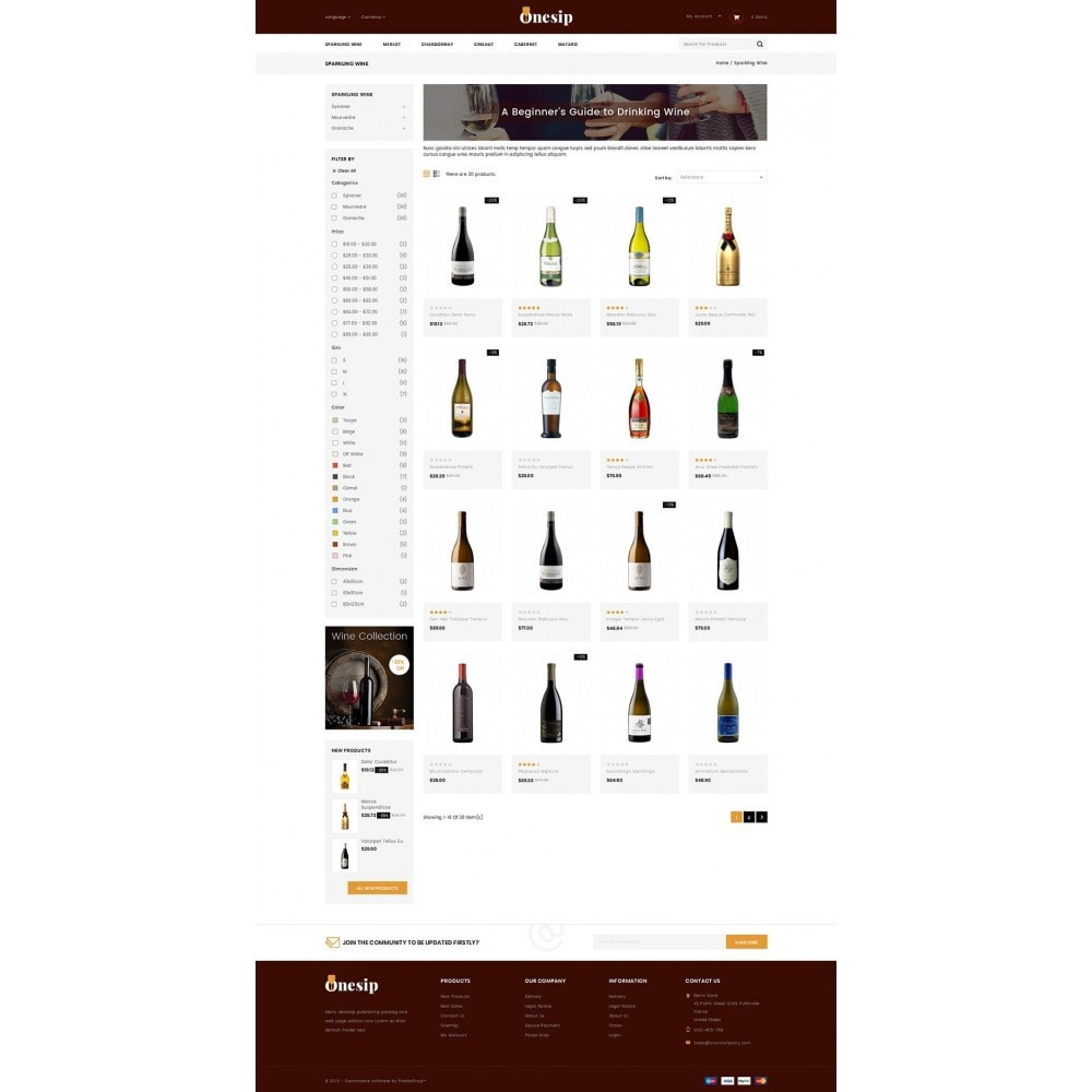 theme - Bebidas y Tabaco - Onesip  - Wine & Drink Shop - 3