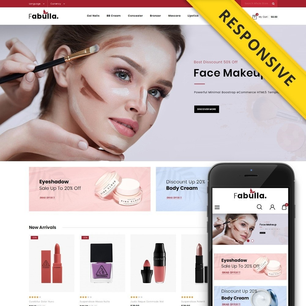 theme - Saúde & Beleza - Fabulla - Cosmetic Shop - 1
