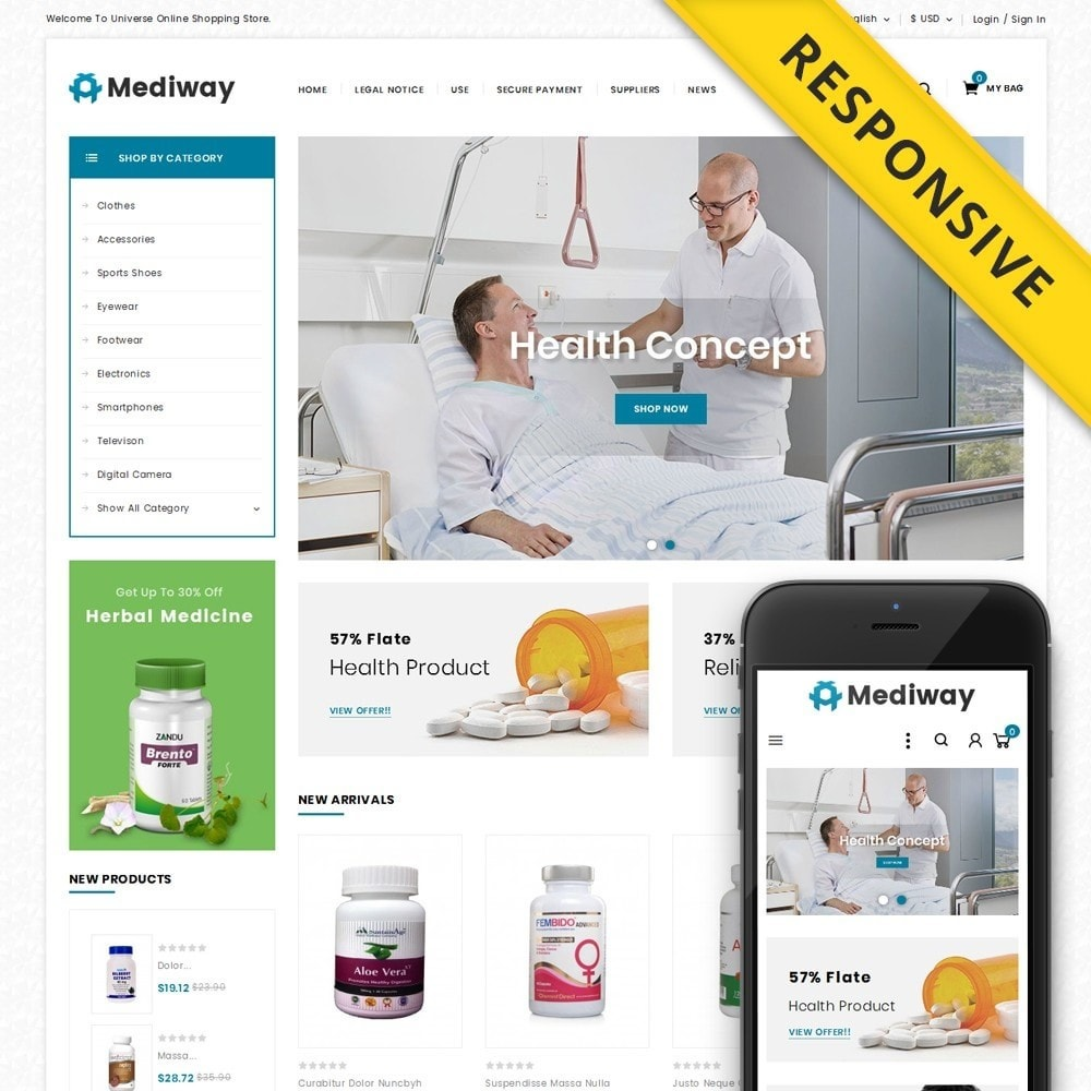 theme - Health & Beauty - Mediway - Drug Store - 1