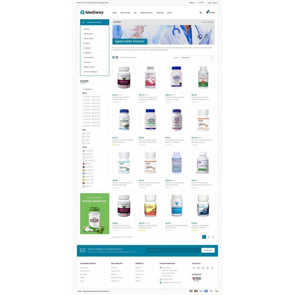 theme - Health & Beauty - Mediway - Drug Store - 3