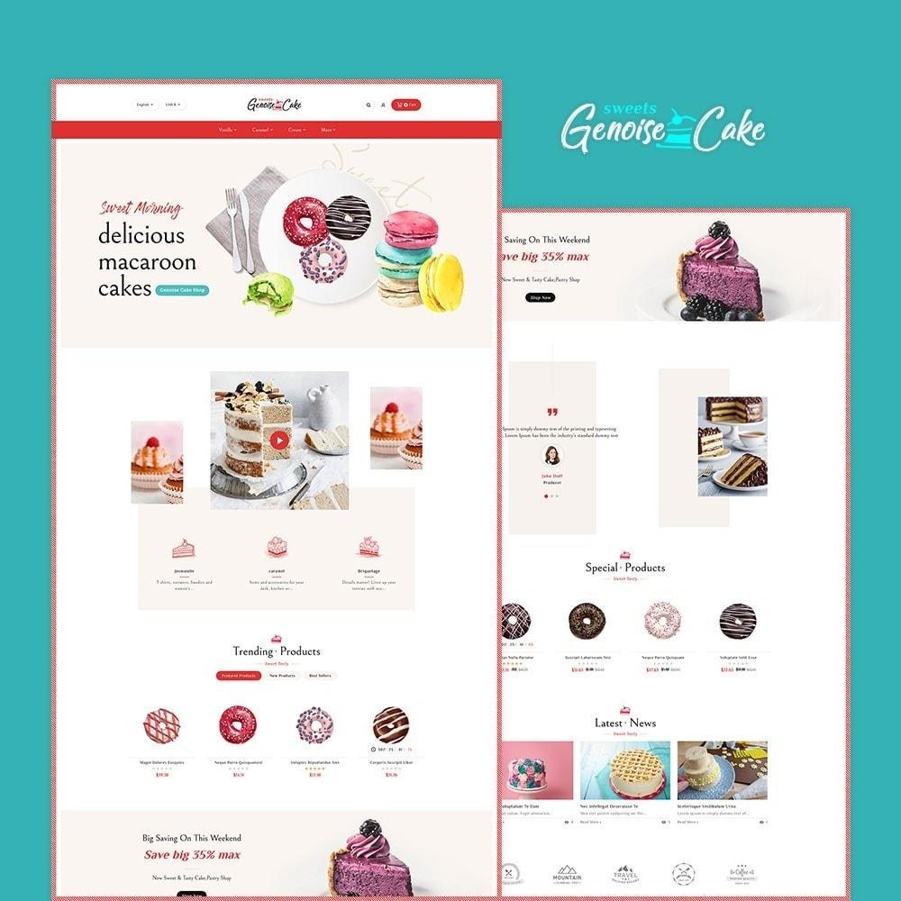 theme - Cadeaux, Fleurs et Fêtes - Genoise - Macaroon Cakes & Sweets - 2