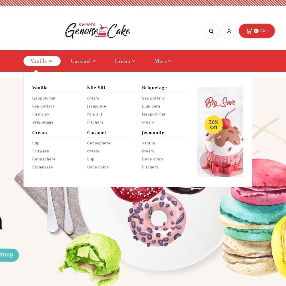 theme - Cadeaux, Fleurs et Fêtes - Genoise - Macaroon Cakes & Sweets - 9