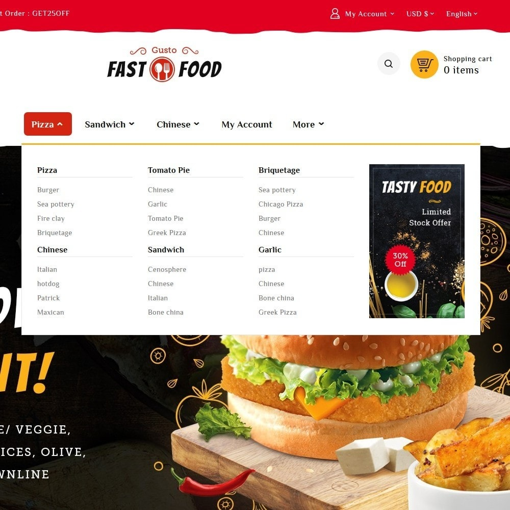 theme - Food & Restaurant - Fast Food & Drinks Corner - 9