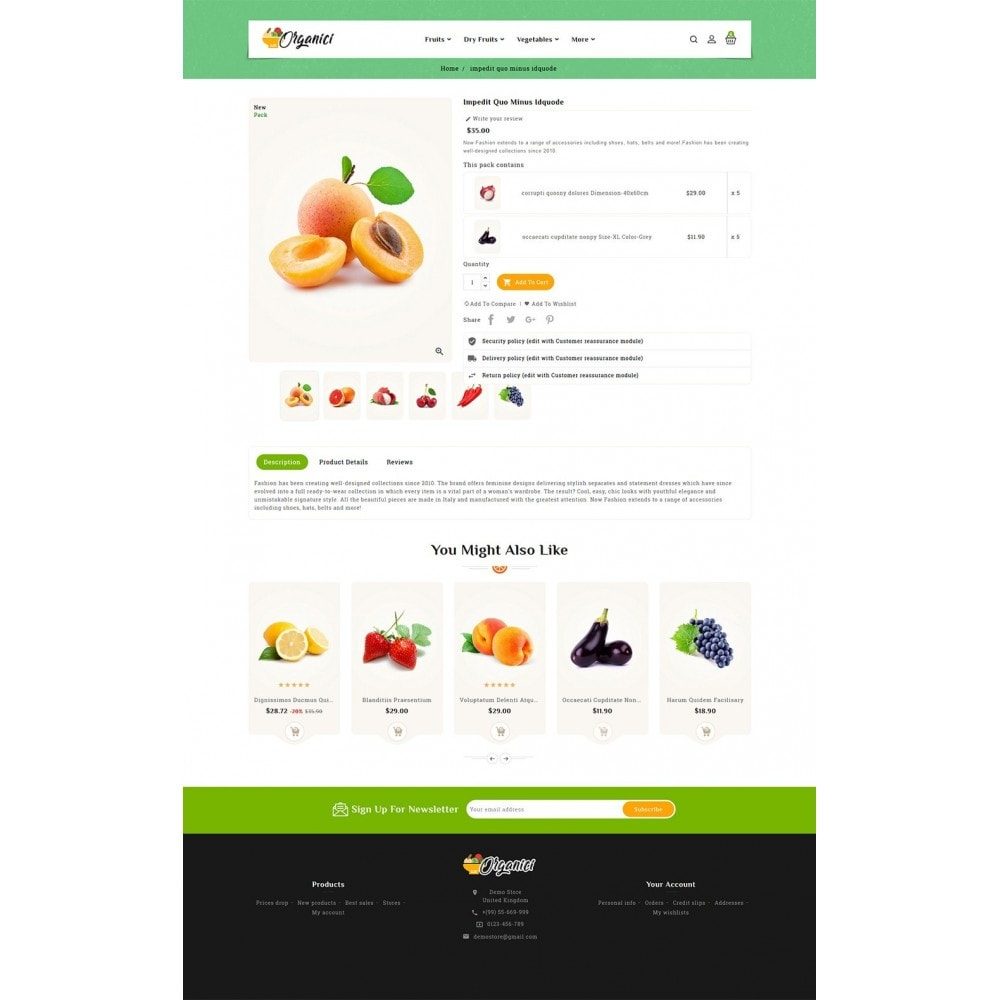 theme - Food & Restaurant - Organics - Vegetables & Fresh Fruits - 5