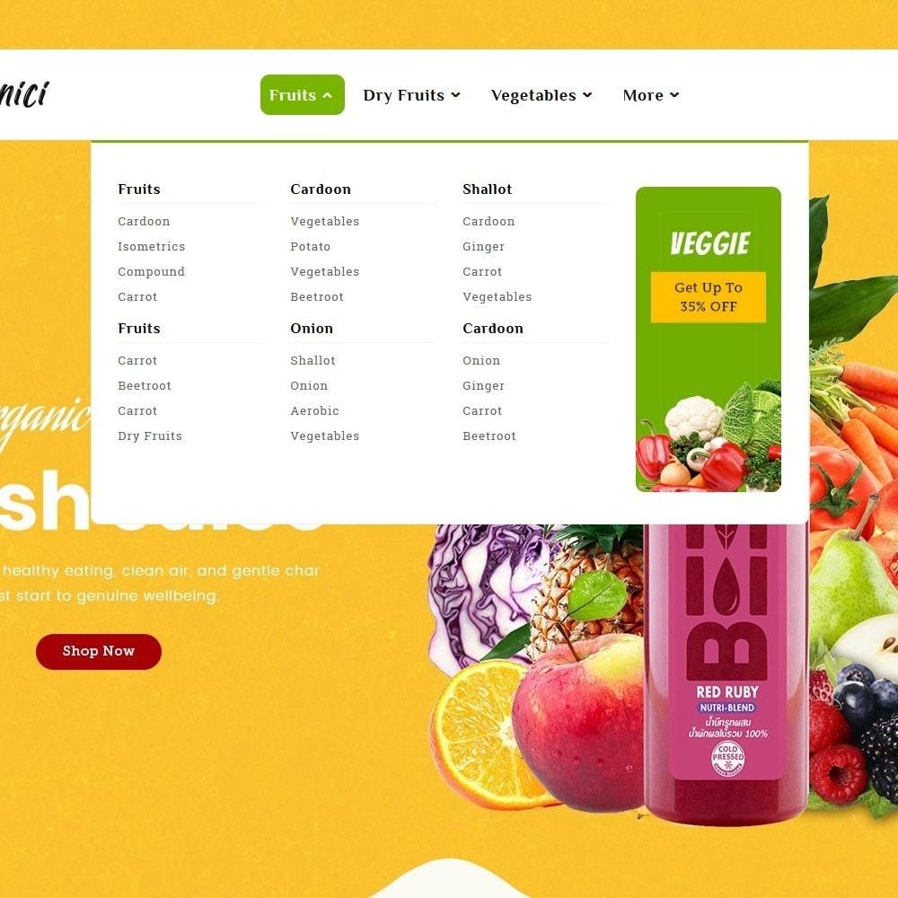 theme - Food & Restaurant - Organics - Vegetables & Fresh Fruits - 9
