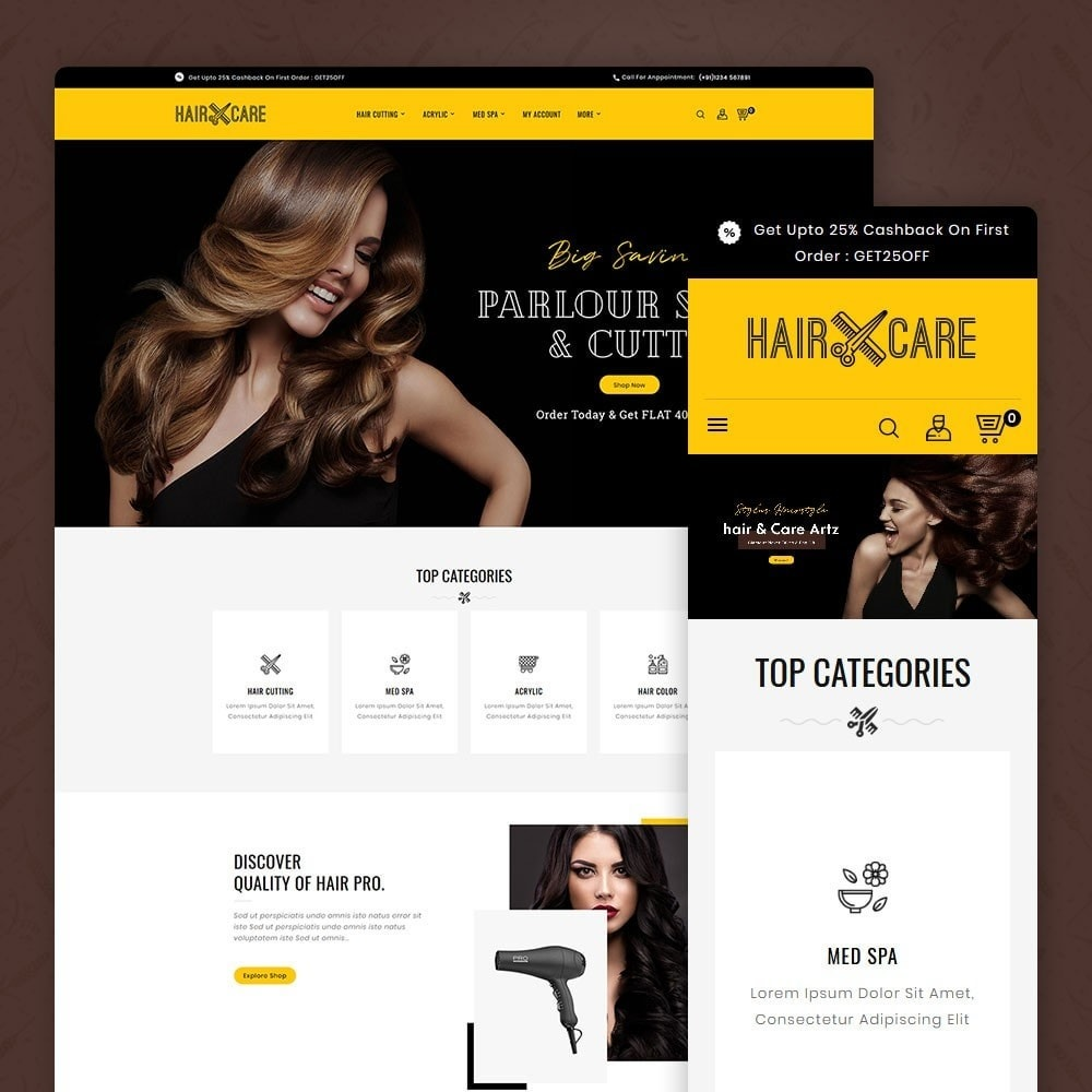 theme - Santé & Beauté - Hair Care & Beauty salon - 1