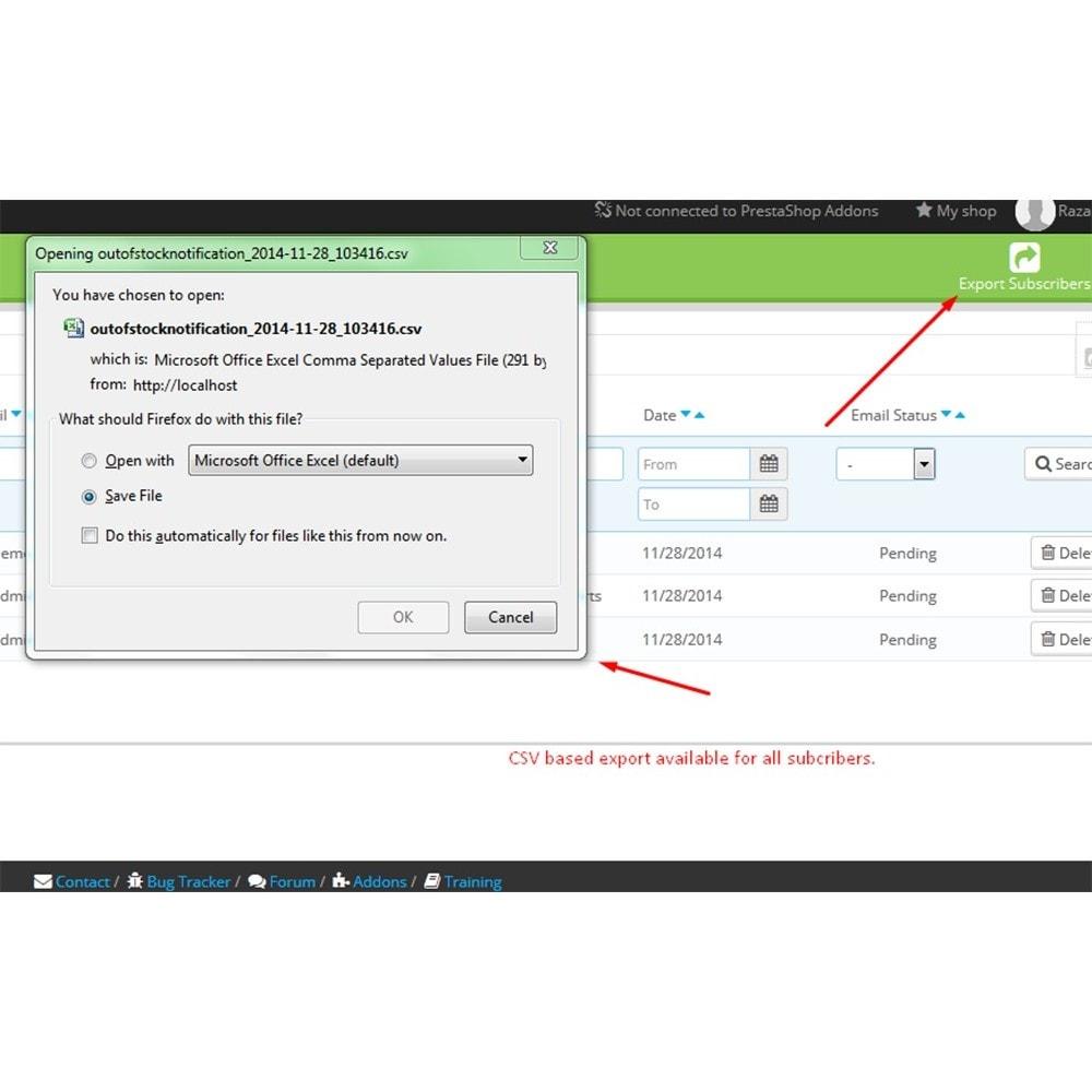 module - E-maile & Powiadomienia - Powiadomienie o wyczerpaniu zapasów - 9