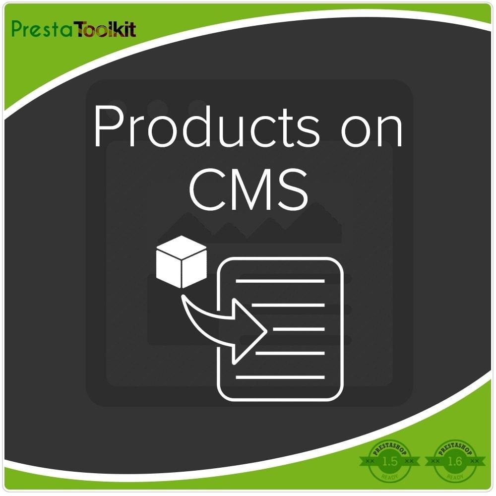 module - Zarządzanie produktami na stronie głównej - Produkty na CMS - 1