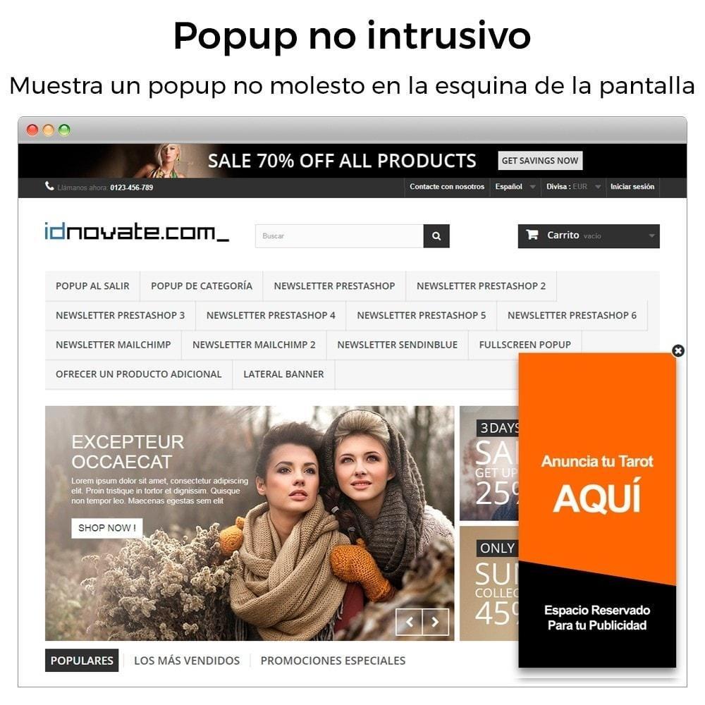 module - Pop-up - Popup al entrar, salir, añadir producto y newsletter - 7