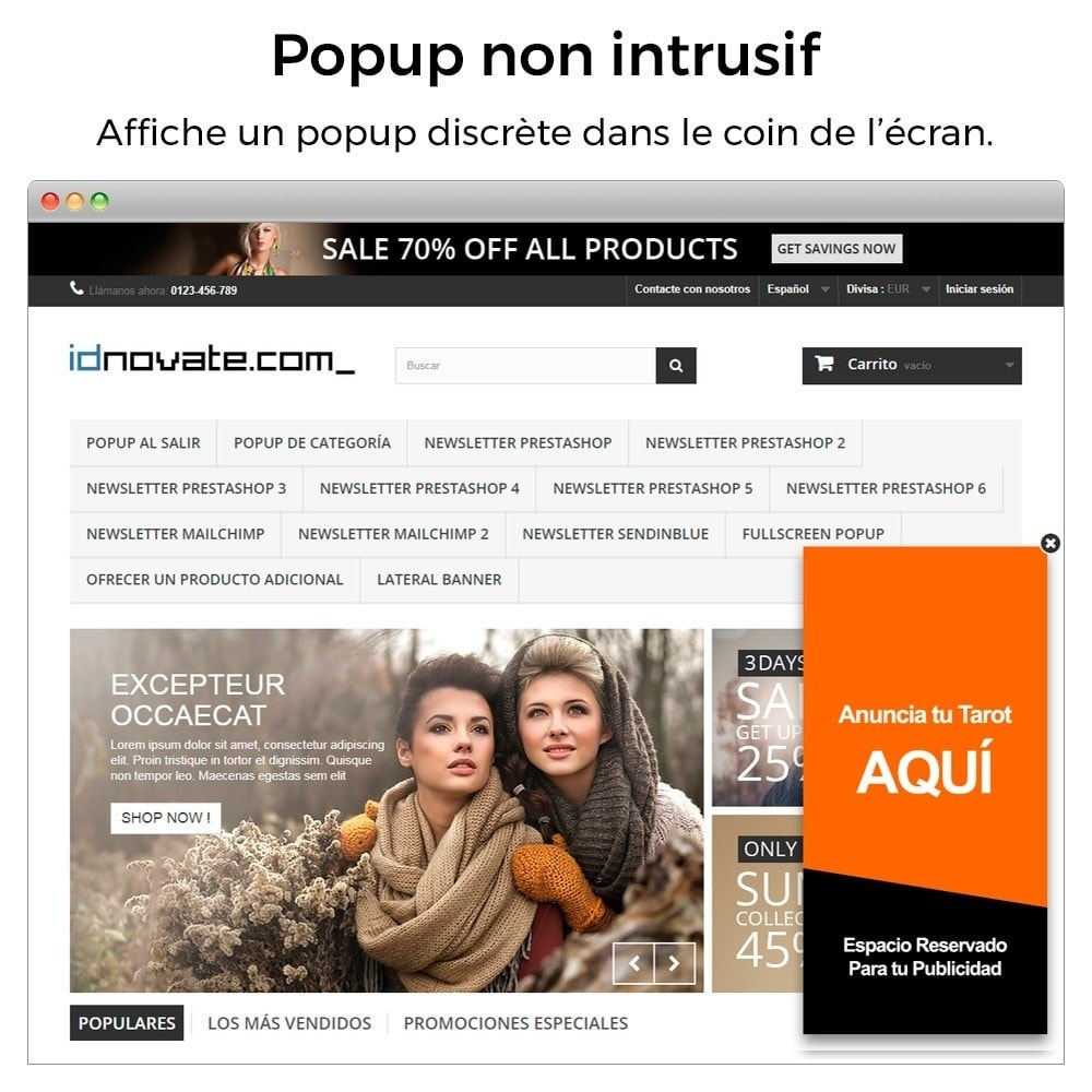 module - Pop-up - Pop-up d'entrée, sortie, ajout de produits, newsletter - 7